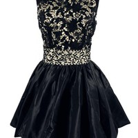 A Line Short Mini Taffeta Lace Girls Prom Dress Party
