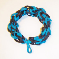 Black and Blue Rubber Band Bracelet - Awesome for Sporting Events, Fundraisers, and Party Favors - Stretch Bracelet