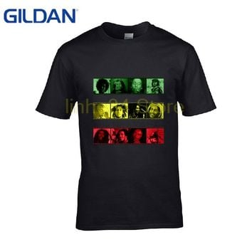 The new black Popular Gift casual t-Shirt mens fashion Bob Marley men's t Shirt round Neck tShirt big size for men Topic