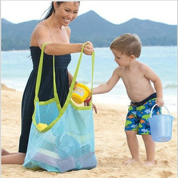 Baby Children Beach Mesh Bag Children Beach Toys Clothes Towel Bag Baby Toy Collection Nappy [8834012940]
