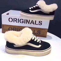 Vans Casual Wool Simple Old Skool High-Top Flats Shoes