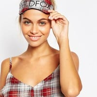 Wildfox Sun Bleached Plaid+ Eye Mask