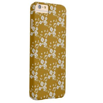 Floral Spray, GOLD-WHITE 2-iPhone 6 Plus CASE