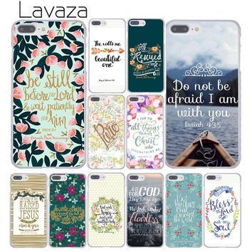 Lavaza Bible verse Philippians Jesus Christ Christian Clear Phone Case for Apple for iPhone 7 7 Plus 6 6S Plus 5 5S SE 5C 4 4S