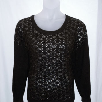 17767 Lane Bryant Plus Size Embellished Hexagon Print Sweater Size 26/28