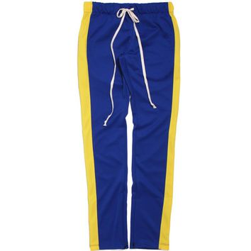 Track Pants Blue / Yellow