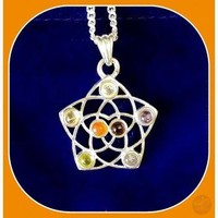 """Seed of Life "" Chakra Necklace"