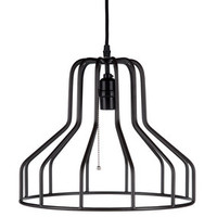 Black Bell-Shaped Hanging Metal Pendant Lamp | Hobby Lobby