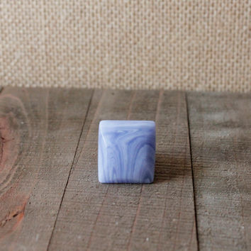LACE AGATE RING/// Size 7  Blue Lace Agate Square Stone Ring/ Gemstone Unique Natural Stone Ring/ Gemstone Carved Ring/ Bohemian Statement