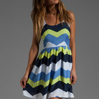 Jack by BB Dakota Maggie Painted Zig Zag Printed Dress in Navy Blue from REVOLVEclothing.com