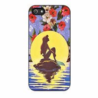 Ariel Little Mermaid Disney Flower Vintage iPhone 5 Case