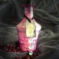 Victorian Rose Bath Salts and Soak - Lovely Pink Decanter Holds 16 ounces