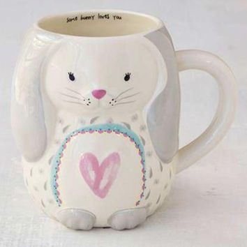 DCCKGE8 Some Bunny Loves You Bunny Folk Mug