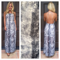 Up In Smoke Maxi Dress - SMOKE GREY