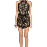Lace Affair Mini Romper - Black - FINAL SALE