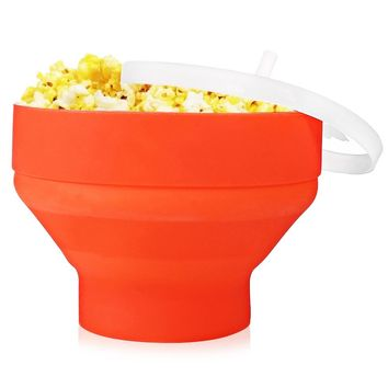 Silicone Collapsible Microwave Popcorn Maker Popper Bowl for Home