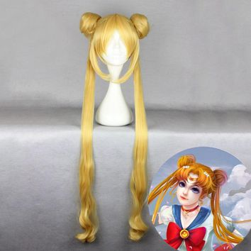 Anime Sailor Moon Wig Usagi Tsukino Cosplay Wig For Women Halloween Party Carnival Wig Costumes Props