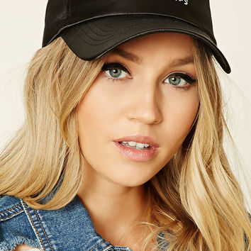 Satin Graphic Baseball Cap
