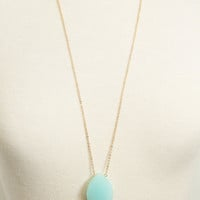 Light Blue Natural Stone Necklace