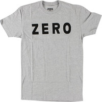 Zero Army Logo Tee Medium heather Grey/Black