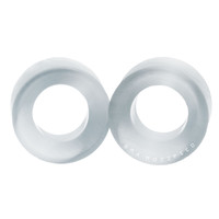 Silver White Cat's Eye Glass Tunnels Plugs (3mm-20mm)