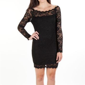 Jump Apparel Juniors Lace Body-Con Dress at Von Maur