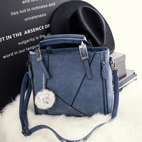 Vintage Large Leather Chic Stylish Crossbody Handbag Shoulder Bag