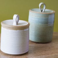 Pottery Jar / Containers / Ceramic Jar with Lid / Salt Cellar / Lidded Jar / Storage Jars / SET OF 2