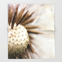 Nature Fleece Throw Blanket - Bedding - Dandelion Photo - Dandelion Wishes - Fleece Throw Blanket - Original Photo - Made to Order