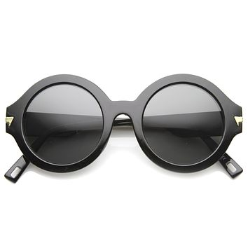 Women's Fashion Forward Oversize Round Sunglasses 9826