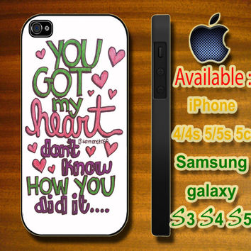 Ariana Grande lyrics custom design hard plastic available for iphone 4/4s,5/5s/5c and samsung galaxy S3/S4/S5 case