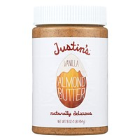 Justin's Nut Butter Almond Butter - Vanilla - Pack of 6 - 16 oz.