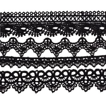 Cloth Lace Tattoo Choker Necklace For Women