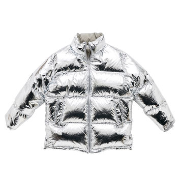 PUFFER DOWN JACKET_SILVER