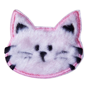 Pink Fluffy Kitty Faux Fur Patch