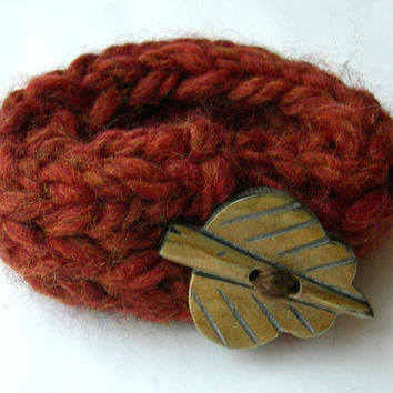 Autumn Knit Bracelet by WindyCityKnits on Etsy