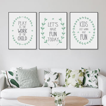 Minimalist Nordic Modern Fun Quotes A4 Large Canvas Art Print Poster Nursery Wall Picture Kids Room Decoration Painting No Frame