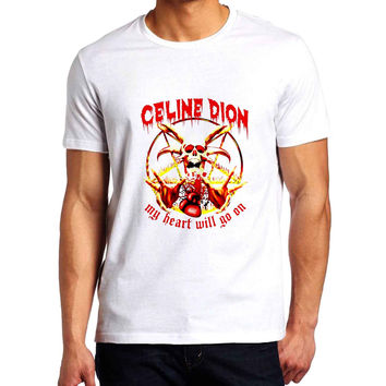 Celine Dion My Heart Will Go On Metal Man T-Shirt
