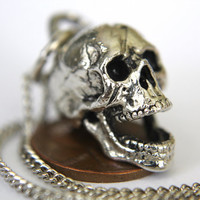 3D Laughing Skull Necklace by mrd74 on Etsy