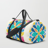 Bright Bohemian Mandala Duffle Bag by noondaydesign