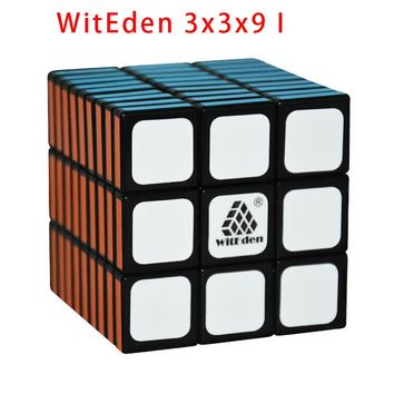 CubeStyle WitEden 3x3x9 I AND 3x3x9 II Black/White Magic Cube Black 3*3*9 Puzzle Cubo Toys For Children Educational Toys 339