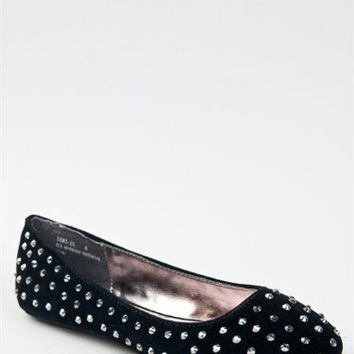 Bamboo SAMI-25 Basic Slip On Studded Classic Flat Dress Shoe