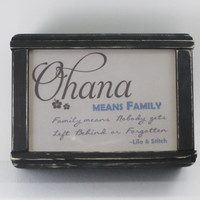 Geek Lights LED Nightlights - Inspirational Quotes - Disney - Lilo and Stitch - Ohana Means Family