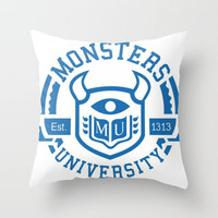 Monsters University Throw Pillow by Sjaefashion