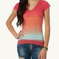 Ombre Tribal Burnout Tee