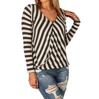 Sale-ivory Stripe Surplice Top