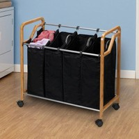 Household Essentials Quad Sorter Bag with Round Edge Frame - 6542 - Bed & Bath