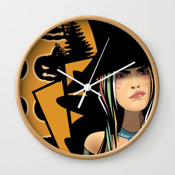 What About The Pumpkins Wall Clock by Gi-Art
