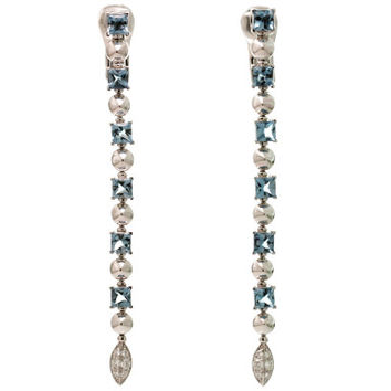 Bulgari Lucea Collection Aquamarine Diamond White Gold Earrings