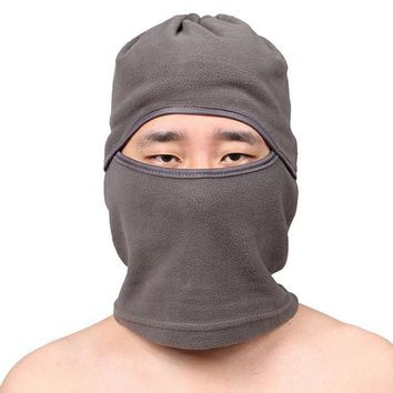Functional Sport Scarves Thermal Fleece Outdoor Sports Hats Full Face Mask Motorcross Hiking Caps Black Warm Beanies